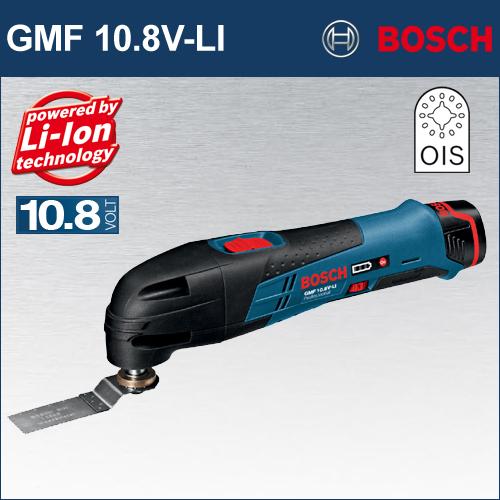 【BOSCH】(ボッシュ) [GMF 10.8V-LI] バッテリーカットソー 高速振り子振動で、面一切断・ポケット切断が楽々!もちろん、剥離・研磨もこれ1台でOK!