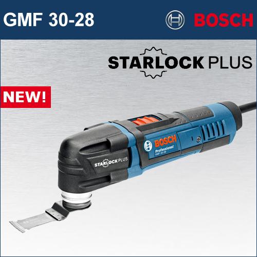 "【BOSCH】(ボッシュ) [GMF 30-28](化粧箱入り) マルチツール""スターロックプラス"" 高速振り子振動最大約2万回/分!マグネット付きツールホルダーでブレード交換をアシスト!"