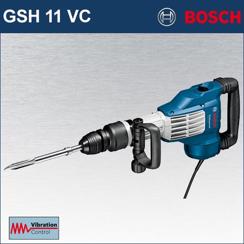 【BOSCH】(ボッシュ) [GSH11 VC] SDS-max 破つりハンマー クラス最強の打撃力、最高クラスの低振動設計、抜群の耐久性! 床方向の作業にも最適なインラインデザイン採用!