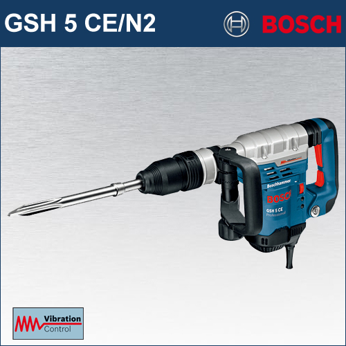 【BOSCH】(ボッシュ) [GSH5 CE/N2] SDS-max 破つりハンマー 徹底的に振動低減! 疲れ知らずのパートナー誕生!