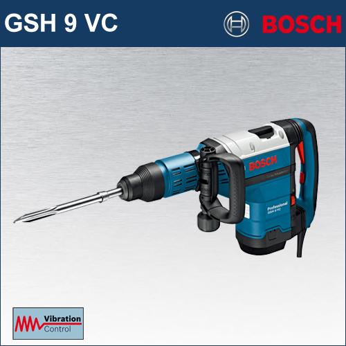 【BOSCH】(ボッシュ) [GSH9 VC] SDS-max 破つりハンマー 最強クラスの打撃力16ジュール、最高クラスの低振動設計! 壁、床どちらの方向の作業にもベストバランス!