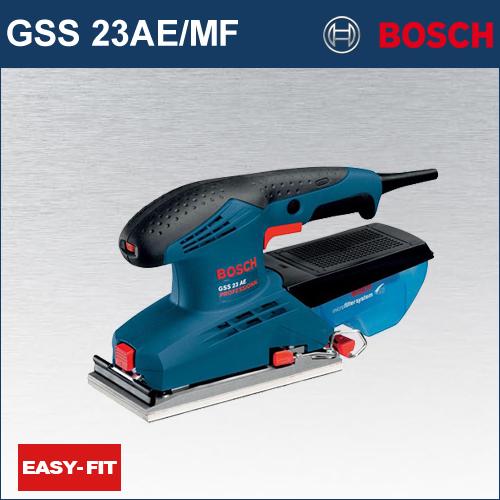 【BOSCH】(ボッシュ) [GSS23AE/MF] 吸じんオービタルサンダー イージーフィットシステム採用で、ペーパーのカンタン装着で作業コストを大幅ダウン!