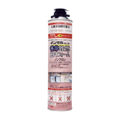 【代引不可】 【ABC商会】インサルパック GS難燃B1フォーム(12本入/箱) 1液型発泡ウレタン/難燃ガンタイプ・隙間充てん用〔ピンク色〕 ※こちらの商品はメーカーより直送の為、代引き不可です。