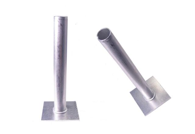 座金付アルミパイプ 10φ×80mm (注入用座金付アルミパイプ)/100ヶ入