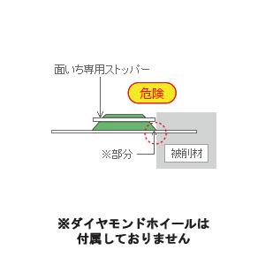 【代引不可】 三京ダイヤモンド工業 [RZ-FD5] RZプロテクト面いち用専用ストッパー 125×20Hエアカッタ用 P401994G