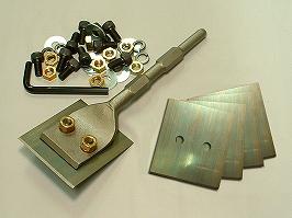 60mmアスファルトカッター六角軸(穴アキ) 90mm薄物ハクリ刃セット(5枚入)