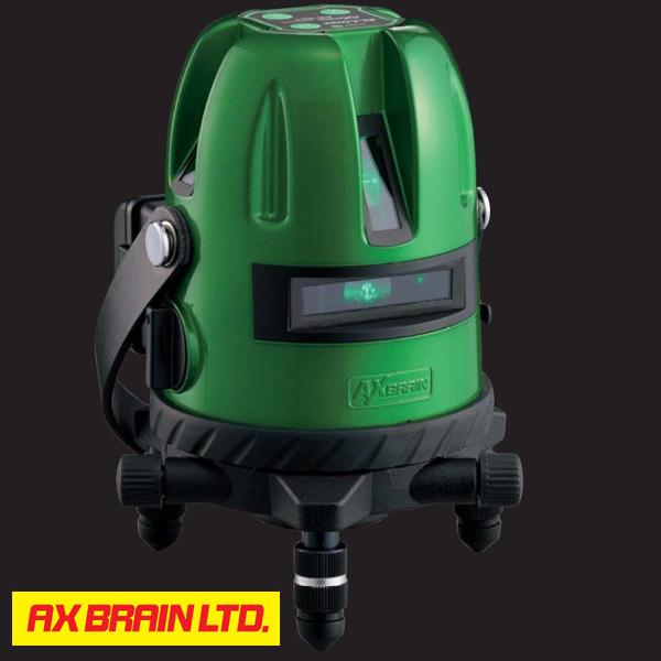 ★P10★ 【AX BRAIN】(アックスブレーン) AG-501 グリーンレーザー墨出し器 エレベーター三脚 標準付属 ※受光器は別売です。