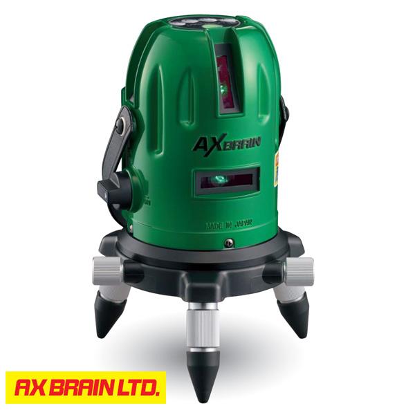 ★P10★ 【AX BRAIN】(アックスブレーン) LV-61G グリーンレーザー墨出し器 エレベーター三脚 標準付属 ※受光器は別売です。