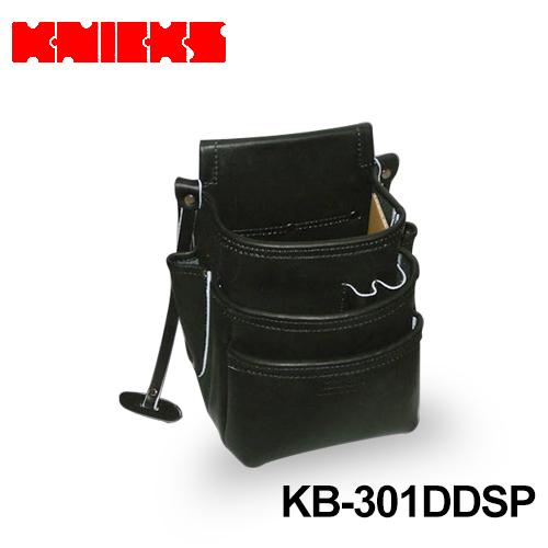 ニックス(knicks) [KB-301DDSP] 総グローブ皮仕上腰袋フチ/総グローブ革テープ巻(ブラック)
