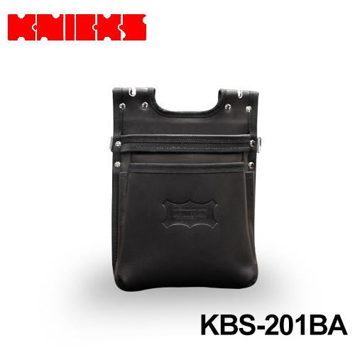 ニックス (knicks) [KBS-201BA] ヌメ革建築用2段腰袋【バリスティック縁巻】