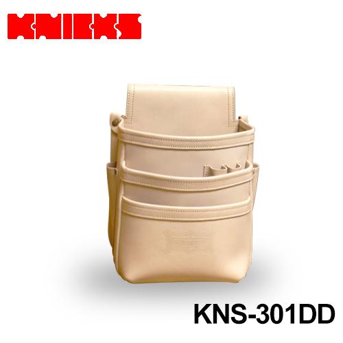 ニックス (knicks) [KNS-301DD] 総ヌメ革 3段腰袋 ナチュラル色 〈ノーマルタイプ〉