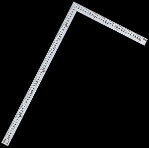 【シンワ】 [63402] 曲尺中金普及型 シルバー 60×30cm 表裏同目 赤数字入