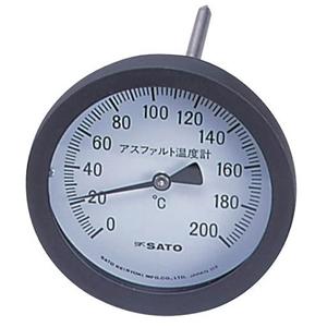 測量/建築/土木/温度/測定/工場/施設/管理/バイメタル式 【Myzox】【佐藤計量器】アスファルト用温度計100mmφ/白AT-100【送料無料】