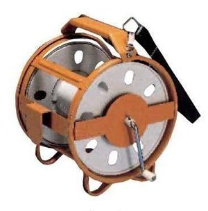 測量ロープ巻取器ロープRケース 測量ロープ用【測量・建築・土木用品】【送料無料】