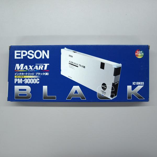 中古/出力/お得/国内正規品/純正/在庫限 【新古品】【未使用品】【未開封】EPSON MAXARTインクカートリッジ (ブラック)IC1BK03【送料無料】【返品不可】