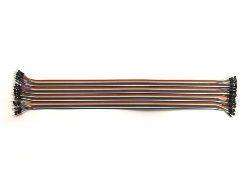 新色追加して再販 2.54mmピッチ 激安通販ショッピング ピンヘッダ ピンフレーム 接続用ケーブル ジャンパーワイヤー 長さ40cm オス-オス 1本 40本束