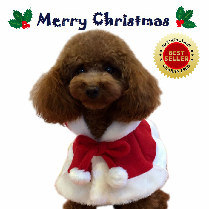 【犬服】【クリスマス】毎年大人気☆のコスチューム♪ 【メール便1枚のみ可能】犬 服 冬 クリスマス サンタ ハロウィン コスプレ【犬用 猫用】チワワ ダックス プードル 柴犬 小型犬 中型犬【ドッグウェア】