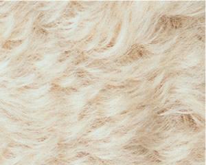 カーリーモヘア ボーンホワイト 1メートル(約140cm×約100cm)