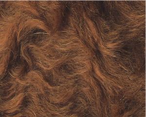 カーリーモヘア ブラウン 1メートル(約140cm×約100cm)