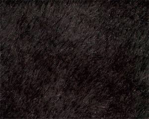 ストレートモヘア ブラック  1ヤード(約140cm×約91cm)