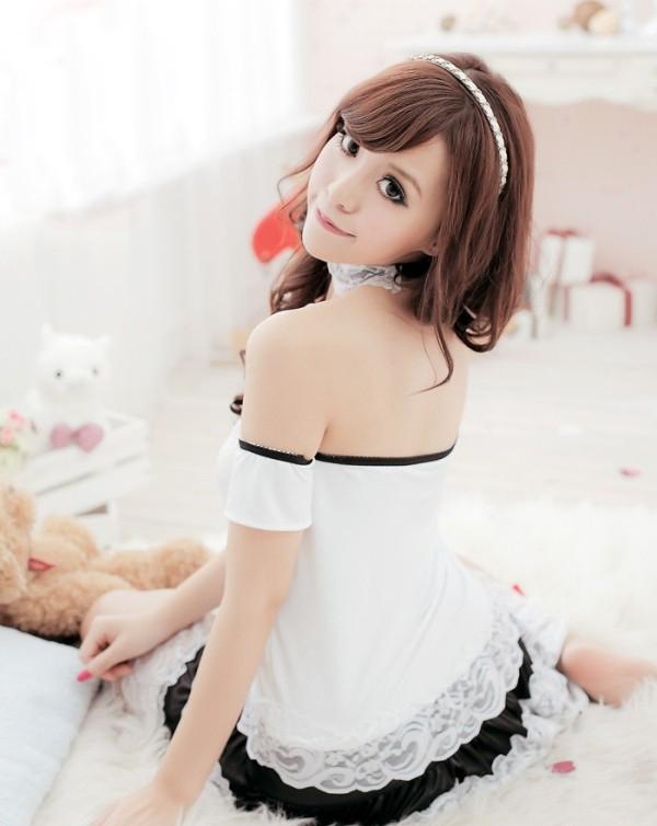 sekushibebidoruranjierigosuroriroritakosupure服装内衣色情到达可爱的服装万圣节礼服白白小连衣裙大人办公室可爱的女服务员