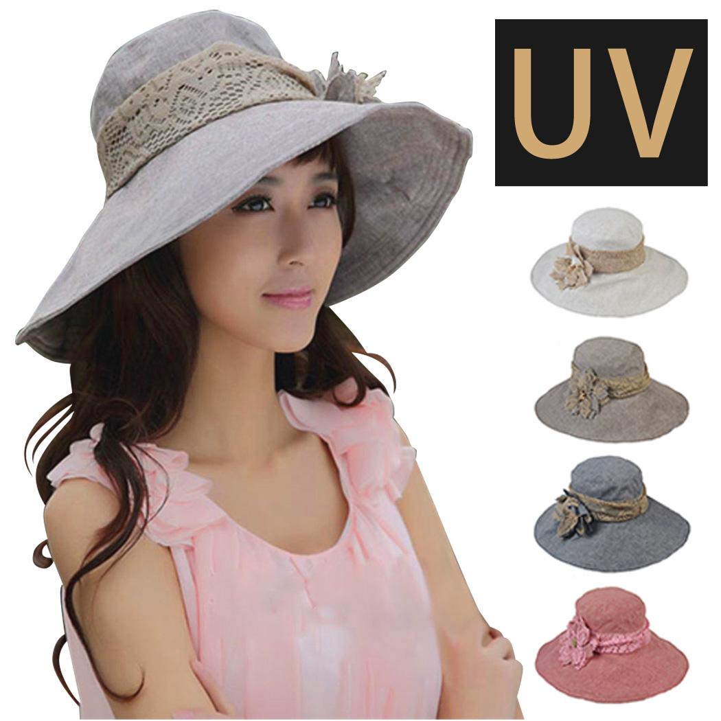 レディース 帽子 紫外線カット UV対策 夏 大きいサイズ 日よけ つば広 紫外線対策 おしゃれ 日本全国 送料無料 アウトドア 送料無料 激安 お買い得 キ゛フト 綿麻素材 UVカット 女性用 折りたたみ収納可能 暑さ対策 つば付き ギフト 春