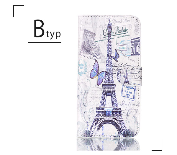 Charge / camera photography is possible with a pretty Eiffel Tower clock  tower picture style card entering, and a smartphone cover touching the  stands