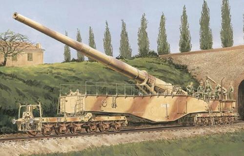 ドラゴン DR6200 1/35 WW.II ドイツ軍 28cm 列車砲K5(E) レオポルド