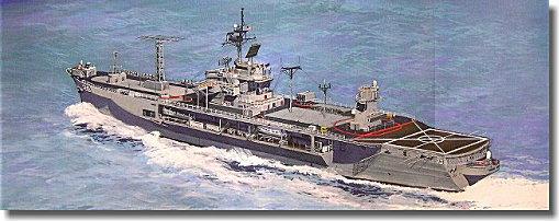 ピットロード 1/700 HM14 米国海軍 現用揚陸指揮艦 マウントホイットニー 1997