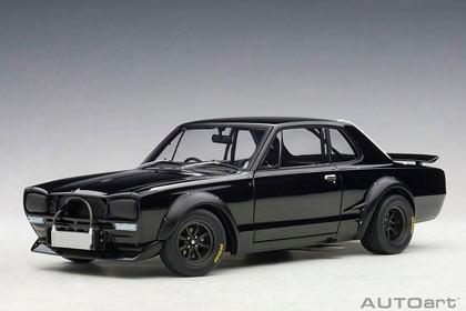 オートアート Millennium No.87278 1/18 日産 スカイライン GT-R (KPGC10) レーシング 1972 (ブラック)
