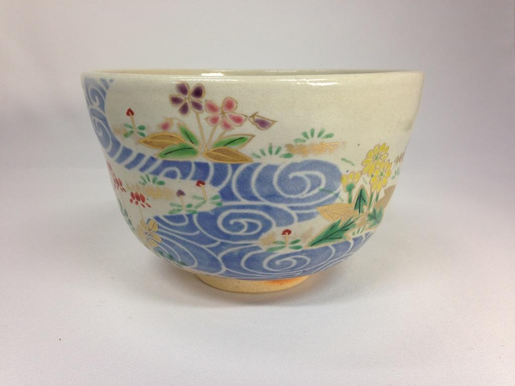 【送料無料】【茶道・茶道具】【裏千家・表千家】抹茶茶碗 白釉 春の小川