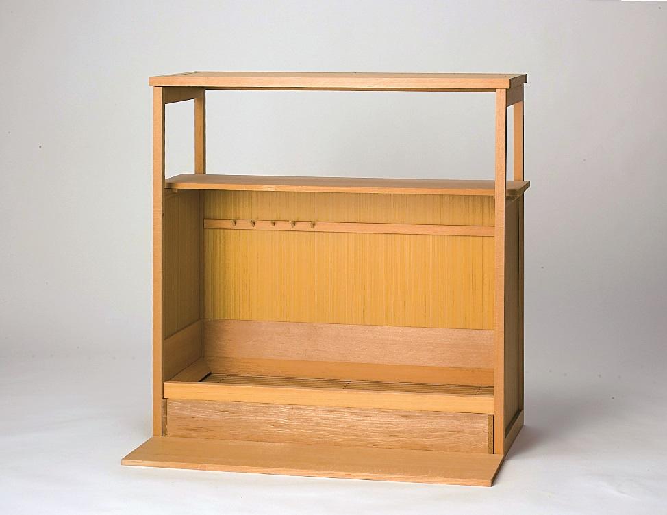 【送料無料※一部地域を除く】【茶道具】水屋道具組立式置水屋