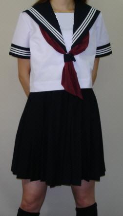 送料無料でお届けします SH48衿 袖カフス紺色 大幅値下げランキング 白3本線半袖セーラー服