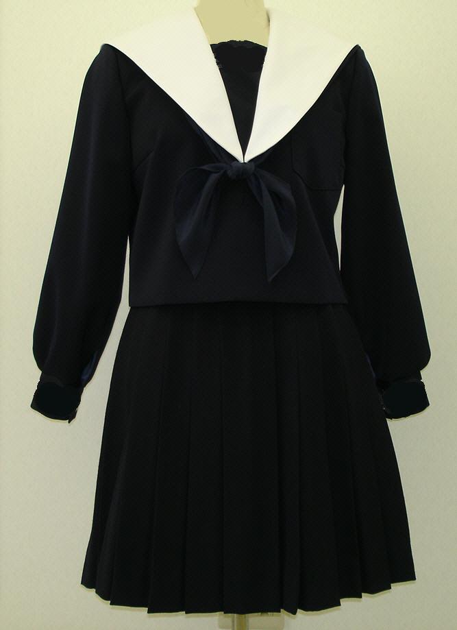 W24Big白衿紺セーラー服深衿タイプ Bigサイズ