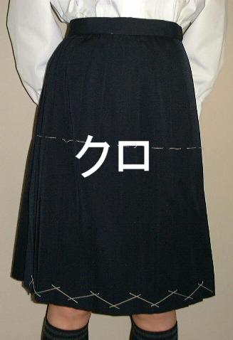 PS02-B 黒冬スカート