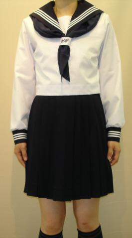 SN29ネクタイ通しシシュー入り合服長袖セーラー服 Bigサイズ