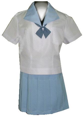 SH32Big変形水色衿半袖セーラー服Big