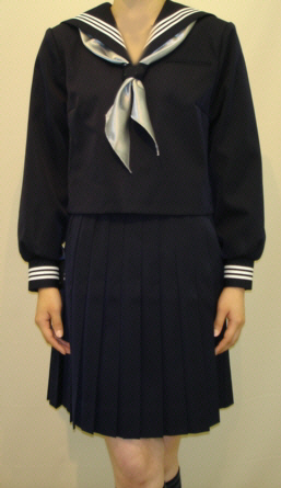 W13紺セーラー服白3本線 BIGサイズ