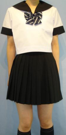 SH65Big衿・袖カフス黒色ライン無し半袖セーラー服Big