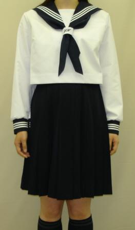 SN29ネクタイ通しシシュー入り 合服長袖セーラー服