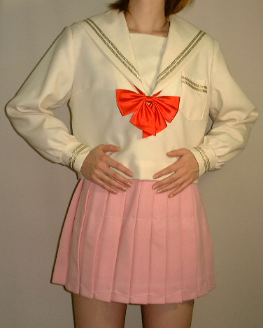 W05アイボリーセーラー服衿・P・カフスゴールドライン超Bigサイズ