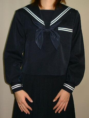 W19紺セーラー服衿・カフス・P2本線 Bigサイズ