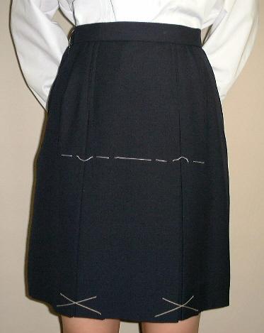 NKPS102BX BOXプリーツスカート(BOX2本)紺・無地Big