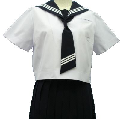 ガッキータイプ半袖セーラー服 Teen-SH71 高校生 学生 中学 女子高生 進学 学校スクール ネイビー 紺 無地