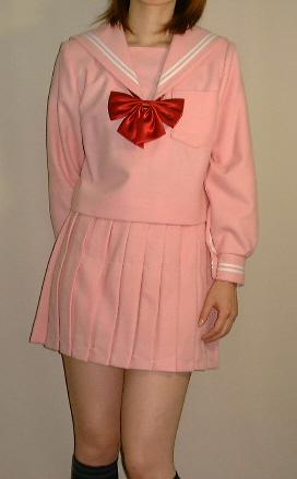 Teen-WP01ピンクセーラー服めずらしいピンク色のセーラー服!高校生 学生 中学 女子高生 進学 学校スクール ネイビー 紺 無地
