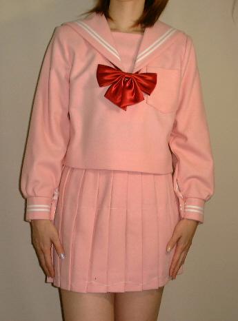 Teen-WP01ピンクセーラー服 Bigサイズめずらしいピンク色のセーラー服!高校生 学生 中学 女子高生 進学 学校スクール ネイビー 紺 無地