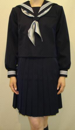BIGサイズW28紺色セーラー服胸当て付衿・カフス白3本線 BIGサイズ, フシミク:50709f79 --- officewill.xsrv.jp