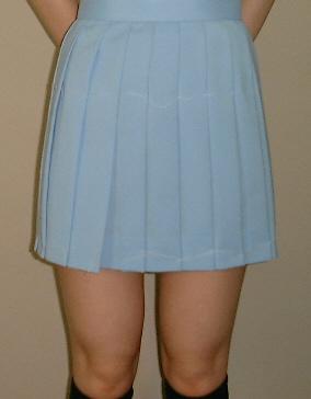 PS515big水色スクールスカートさわやかな夏色!ビッグサイズ