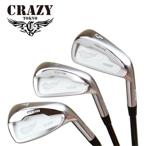 クレイジー CRAZY アイアン CRZ-IRON 8本セット #3~#P ヘッドのみ ヘッド単体不可