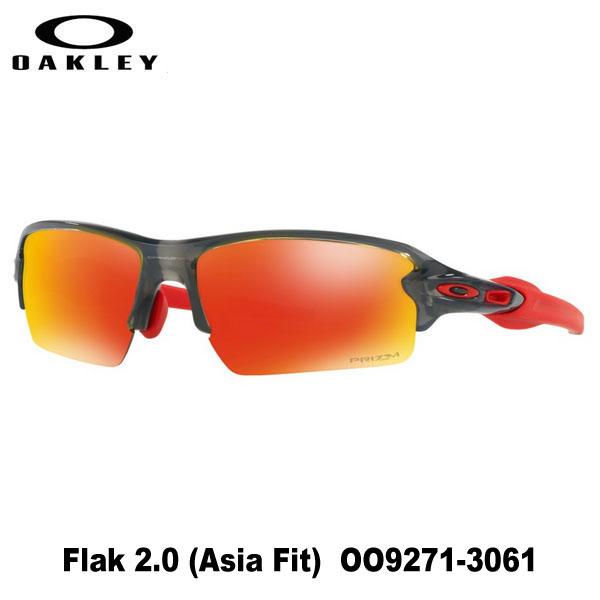オークリー サングラス Flak 2.0 Asia Fit OO9271-3061 アジア フィットGRAY SMOKE